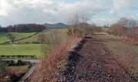 View north from the site of Charlesfield Halt in 1998. Some ballast re-cycling seems to have taken place. This halt served the nearby wartime ICI/Nobel factory.