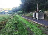 Snapper Halt on the Lynton & Barnstaple Railway, closed to passenger traffic in 1935, seen here in 2015 following clearance and restoration work. [Ref query 433]. <br><br>[Ian Dinmore&nbsp;//2015]