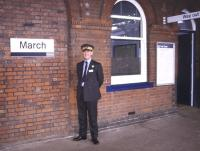 Ian Dinmore at March station in 1996.<br><br>[Ian Dinmore Collection&nbsp;//1996]