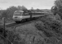 A diverted southbound HST heading towards the former Glenburnie Junction.<br><br>[Bill Roberton&nbsp;//1988]