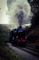 K1 2-6-0, 62005 darkens the sky at Beckhole, heading a Whitby to Pickering 7 coach set up the 1 in 49 on the NELPG 50th Anniversary weekend. It was loud, very loud.<br><br>[Brian Taylor&nbsp;30/10/2016]