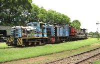 Locomotives and equipment awaiting refurbishment at the KRM in March 2014.<br><br>[Alistair MacKenzie&nbsp;17/03/2014]