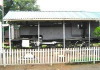 Former Kenya and Uganda Railway class ED1 2-6-2T no 327 under cover at the Kenya Railway Museum in March 2014. Built by the Vulcan Foundry in the late 1920s this was one of a batch of 27 class ED1s to enter service with the KUR around that time.<br><br>[Alistair MacKenzie&nbsp;17/03/2014]