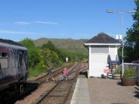 A traditional - and sensible - low-cost walking route across the railway: the barrow crossing at Arisaig on 3rd June 2016.<br><br>[David Spaven&nbsp;03/06/2016]