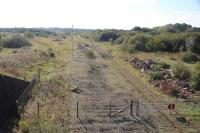 Looking south over Margam Yard. The running shed was off to the left now completely demolished as has the wagon repair. The pile of rubble on the right is the remains of the South Sorting Sidings Signal Box.<br><br>[Alastair McLellan&nbsp;13/10/2016]