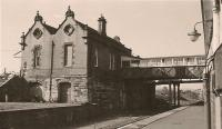 The station building at Dalry, looking north in 1984.<br><br>[Ewan Crawford Collection&nbsp;12/05/1984]