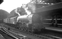 York based A1 Pacific 60150 <I>Willbrook</I> at Newcastle Central with an unknown working in the summer of 1963.<br><br>[K A Gray&nbsp;08/06/1963]