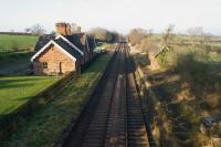 Looking north over the former station at Cumwhinton on 21 January 2017. The rails are rusty at the moment with the closure of the S&C at Eden Brows a short distance to the south.<br><br>[John McIntyre&nbsp;21/01/2017]