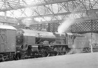 LMS Patriot 5901 <I>Sir Robert Turnbull</I> stands at Carlisle in 1933, shortly after delivery from Crewe Works. For a short period the locomotive carried the same name and number as the Claughton  it had replaced (the original LNWR 1161), but within a short time was renumbered by the LMS as 5540, eventually becoming 45540 under BR. It was withdrawn from Carlisle Upperby in April 1963 and cut up at Crewe Works some three months later.<br><br>[Dougie Squance (Courtesy Bruce McCartney)&nbsp;//1933]