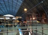 Old and new Eurostars meeting at St Pancras in December 2016. Although both of the old stock trains are in old livery, there was an old set in the new livery out of shot to the left.<br><br>[Ken Strachan&nbsp;01/12/2016]