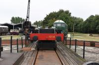 The Chassis from County Class 4-6-0 1014 'County of Glamorgan' was brought out as part of an open day, to be admired by the many financial donors.<br><br>[Peter Todd&nbsp;27/08/2016]