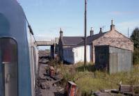 View from the Branch Line Society's Lothian & Fife Wanderer on 23 August 1980 of Millerhill Station on the stub of the Waverley Route.<br><br>[Bill Roberton&nbsp;23/08/1980]