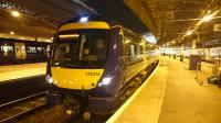 The 21:05 to Edinburgh Waverley, Class 170 416, at Aberdeen.<br><br>[Alan Cormack&nbsp;10/01/2017]