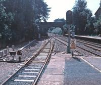 Platform view from Kemble railway station looking south on the 30th of August 2016. The engineer's siding on the left is the remains of the former line to Cirencester.<br><br>[Alan Cormack&nbsp;30/08/2016]