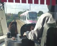 Nearly the driver's view of the Midland Metro.<br><br>[John Yellowlees&nbsp;18/09/2016]