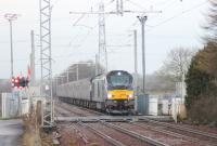 68004 passing over Heatherbell level crossing with the Edinburgh Waverley to Motherwell empty coaching movement on the morning of 15/12/16.<br><br>[Alastair McLellan&nbsp;15/12/2016]