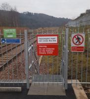 STOWlag luft surely? The somewhat severe fencing at the south end of the northbound platform of Stow station.<br><br>[John Yellowlees&nbsp;22/01/2017]
