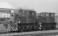 Planet shunters 3082 and 3080 (3779 and 3777 of 1956) at Rosyth Dockyard.<br><br>[Bill Roberton&nbsp;16/06/1984]
