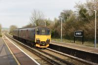 150 108, a First Great Western stopper, heading to Weymouth, I believe this train may have originated in Gloucester and travelled via Bristol Temple Meads and Westbury.<br><br>[Peter Todd&nbsp;13/02/2017]