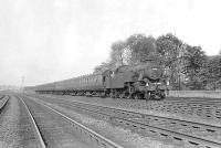 Fairburn tank 42191 approaching Wallneuk Junction on 2 June 1959 with the 5.40pm Ayr express. [Ref query 845]   <br><br>[G H Robin collection by courtesy of the Mitchell Library, Glasgow&nbsp;02/06/1959]
