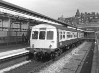 Metro Cammell DMU 101 202 waits at the platform at Windsor and Eton Central in 1987. [Ref query 932]<br><br>[Bill Roberton&nbsp;//1987]