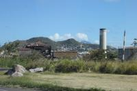 The central sugar factory at Basseterre which was in operation between 1912 and 2005. The St Kitts Railway made a thirty mile circuit of the island and operated seasonally to bring harvested cane from the various estates to this central processing plant. Before the 21st century tourist trains sugar cane was the sole traffic on the line.<br><br>[Mark Bartlett 18/02/2017]