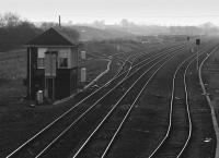 Cadder Yard looking west with signalbox to left.<br><br>[Bill Roberton&nbsp;//1994]