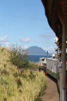 Rounding the northern tip of St. Kitts the Dutch island of Sint Eustasius comes into view from a train heading for La Vallee.<br><br>[Mark Bartlett&nbsp;18/02/2017]