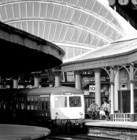 A DMU from Hull photographed shortly after arrival in bay platform 10 at York on 13 July 1980. <br><br>[John Furnevel&nbsp;13/07/1980]