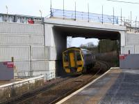 It would appear unlikely that any electrification clearance issues will arise with the new Station Road overbridge, and it might even prove suitable for the former Transport Minister's proposed double decker trains. [See image 56367] for a similar photograph of the previous bridge.<br><br>[Colin McDonald&nbsp;24/03/2017]