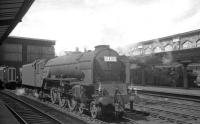 A1 Pacific 60127 <I>Wilson Worsdell</I> standing on the centre road at Carlisle on Saturday 25 July 1964. In the background 'Jinty' 47326 is on station pilot duty.<br><br>[K A Gray&nbsp;25/07/1964]