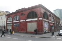 Considering the value of property in London the old Northern line tube station at Euston is remarkably unchanged long after its closure [See image 5179]. The complex story of this station and what lies beneath the red tiled exterior can be found in the Abandoned Stations website. <br><br>[Mark Bartlett&nbsp;14/02/2017]