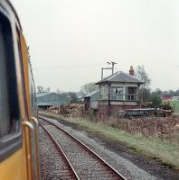 The closed Gisburn box viewed from the south in 1989. The 47 was on a diversion from the WCML via Blackburn, Hellifield and the S&C to Carlisle.<br><br>[Ewan Crawford&nbsp;25/03/1989]
