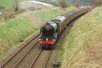60103 <I>'Flying Scotsman'</I> hauling the S&C re-opening special from the K&WVR to Carlisle on 31 March 2017. The train is approaching Hellifield on the outward run.<br><br>[John McIntyre&nbsp;31/03/2017]