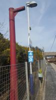 What is this mysterious red pole at Howwood?<br><br> For the answer [see image 23480].<br> <br><br>[John Yellowlees&nbsp;24/03/2017]