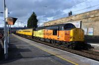 37116 tailed by 37025 'Inverness TMD' on 108N at Motherwell, 21st March 2017.<br> <br> <br><br>[Ian Millar&nbsp;21/03/2017]