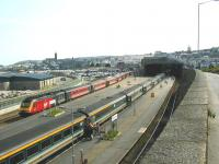 View south over Penzance station from Chyandour Cliff in 2005.<br><br>[Ian Dinmore&nbsp;//2005]
