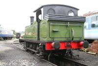 The much travelled J72 0-6-0T no 69023, photographed in the Wensleydale Railway yard at Leeming on 9 July 2012. 69023 is owned by the North Eastern Locomotive Preservation Group. [See image 37923]<br><br>[John Furnevel&nbsp;09/07/2012]