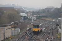 Northern 150139 heads west from Blackburn passing over Darwen Street Bridge with a service from Colne to Blackpool South on 23rd March 2017. Although greatly reduced there is still a significant track layout at Blackburn, soon to be further enhanced with the opening of the new DMU depot. <br><br>[Mark Bartlett&nbsp;23/03/2017]