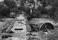 Kyle of Lochalsh's 60' turntable being prepared for removal to Aviemore on the Strathspey Railway in 1977.<br><br>[Bill Roberton&nbsp;//1977]