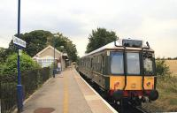 Chiltern railcar 121034 waits alongside the single platform at Little Kimble in August 2016 with a Princes Risborough - Aylesbury shuttle service. [Chiltern's railcars are to be withdrawn on 19th May - see news item]<br><br>[Ian Dinmore&nbsp;18/08/2016]