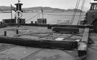 Wagon turntable at the end of the pier in 1977.<br><br>[Bill Roberton&nbsp;//1977]