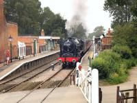 46100 <I>Royal Scot</I> photographed leaving Thuxton on 24 June 2016 during the Mid Norfolk Railway Steam Gala. <br><br>[Ian Dinmore&nbsp;24/06/2016]