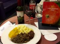 Dining, on the <a href=https://www.sleeper.scot/ target=external>Caledonian Sleeper</a>. Here's one of my haggis, 'Award winning Cockburn's Haggis, Neeps and Tatties'.<br> <br> <br><br>[Colin McDonald&nbsp;03/04/2017]