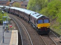 66746 nears Dunfermline Queen Margaret with the Edinburgh - Keith 'Royal Scotsman', the first trip of the year.  17 April.<br><br>[Bill Roberton&nbsp;17/04/2017]