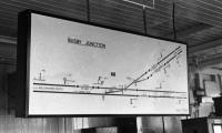 The route diagram of Busby Junction signal box seen in 1974.<br><br>[Ian Millar 29/01/1974]