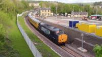 37604 on a NR Test Train running slowly through the then unfinished Gorebridge station heading north to Edinburgh over the then unopned Borders Rail on 12/5/15.<br><br>[Jeffray Wotherspoon&nbsp;12/05/2015]