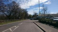 View south in Blairgowrie from the site of the former station.<br><br>[Alan Cormack&nbsp;06/04/2017]