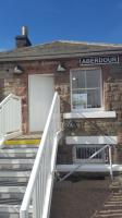 Aberdour signal box, decommissioned in the 1970s, has been restored for Artline. Artist Lynette Gray will use the lower floor for creating ceramic work and the upper floor for painting. The box was 'opened' on the 25th.<br><br>[John Yellowlees 25/04/2017]