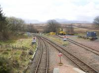 View south from the footbridge at Rannoch.<br><br>[Colin McDonald&nbsp;12/04/2017]